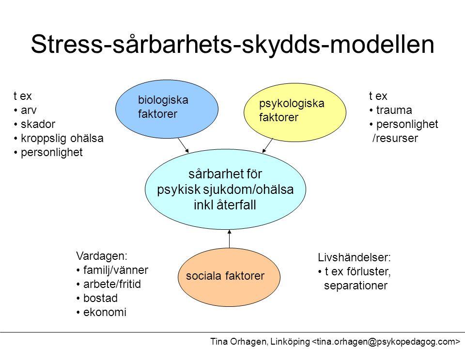Stress-sårbarhets-skydds-modellen