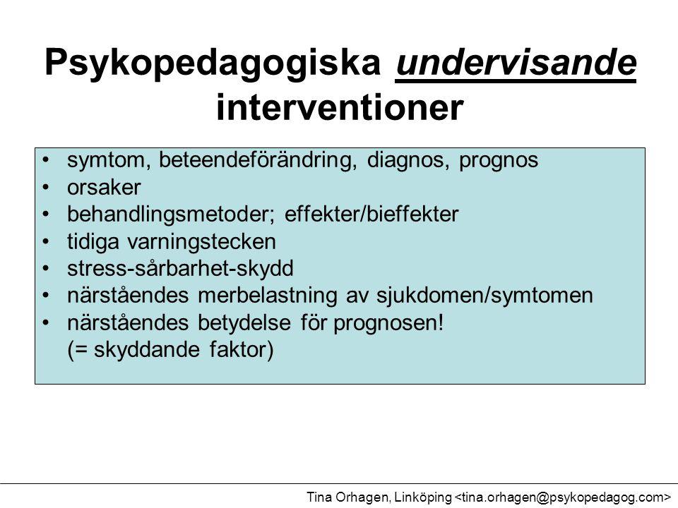 Psykopedagogiska undervisande interventioner