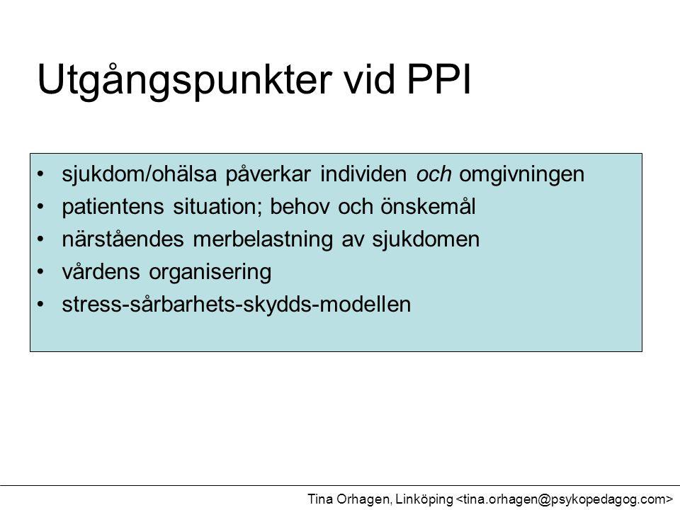 Utgångspunkter vid PPI