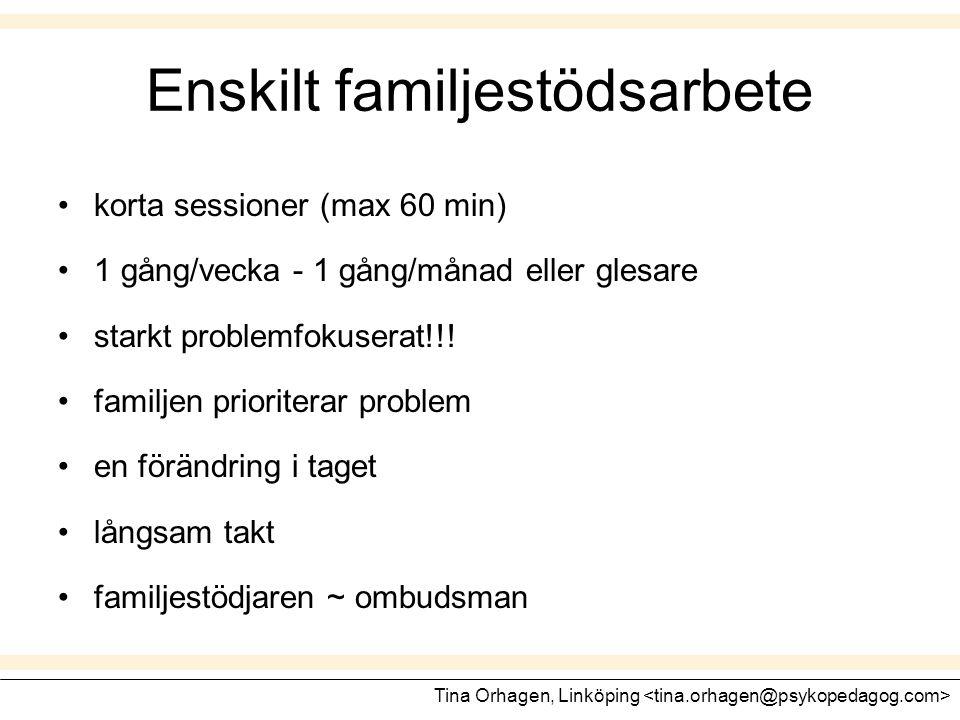 Enskilt familjestödsarbete