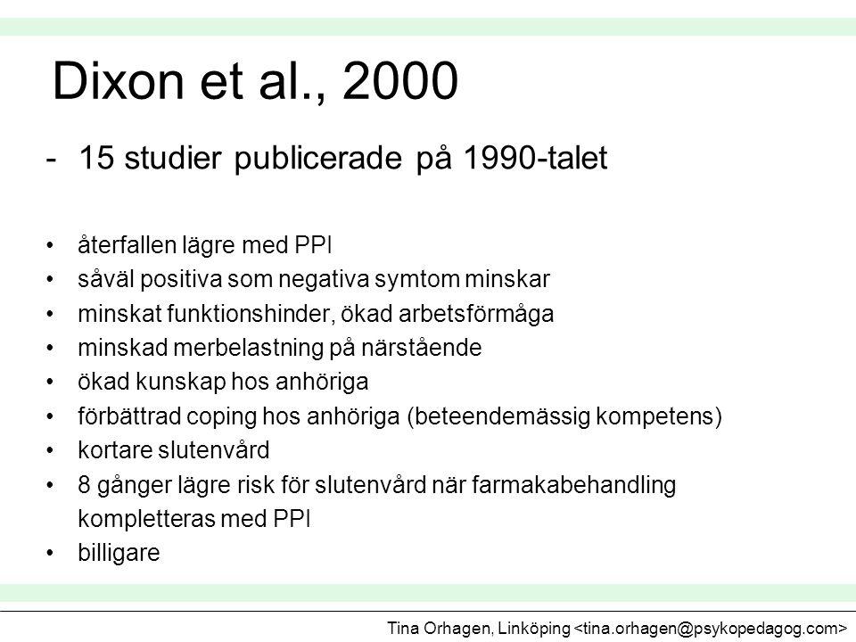 Dixon et al., 2000 15 studier publicerade på 1990-talet