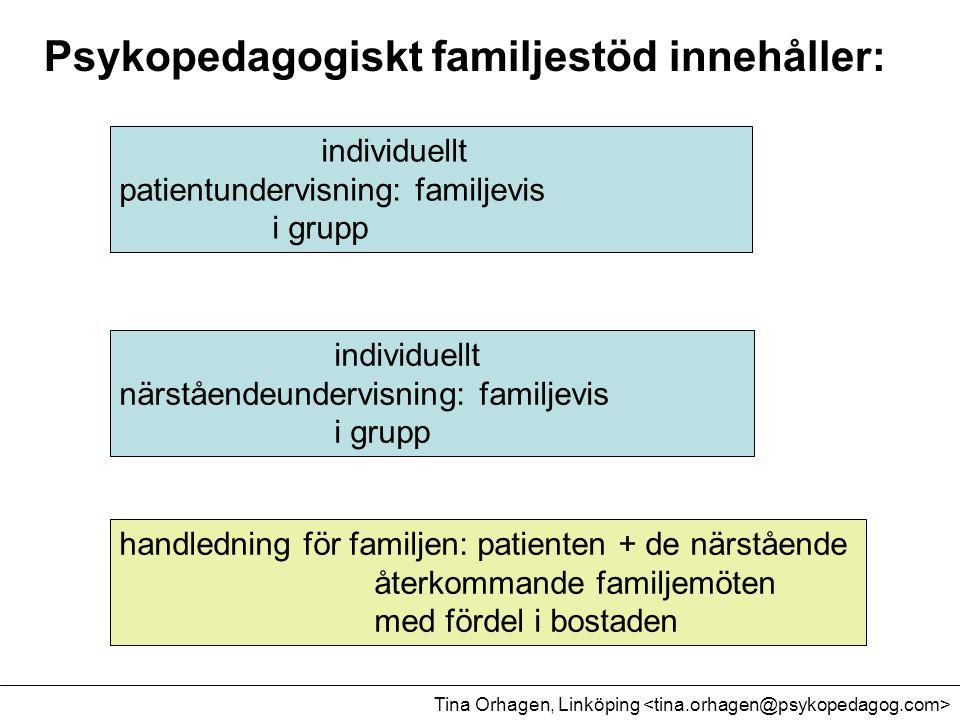 Psykopedagogiskt familjestöd innehåller: