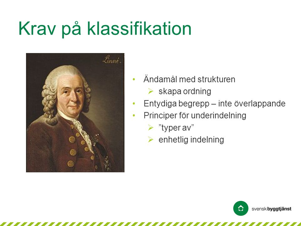 Krav på klassifikation