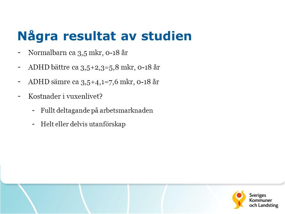 Några resultat av studien