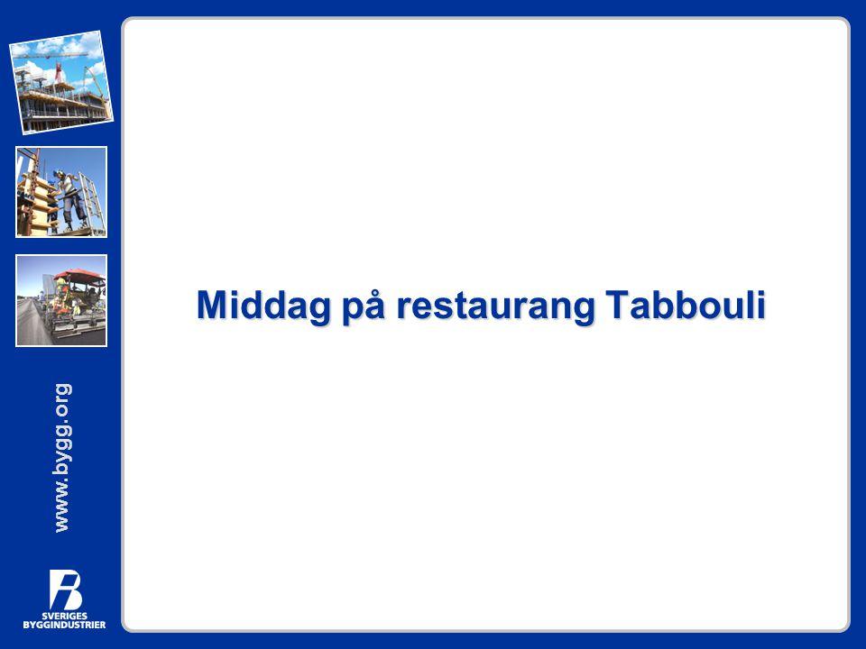 Middag på restaurang Tabbouli