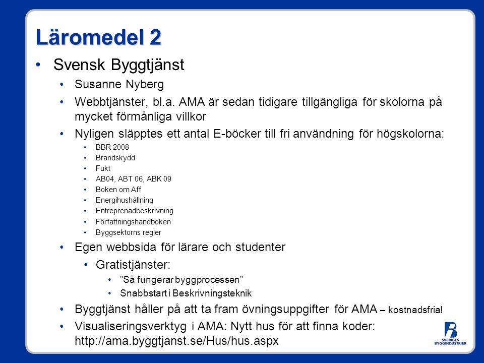 Läromedel 2 Svensk Byggtjänst Susanne Nyberg