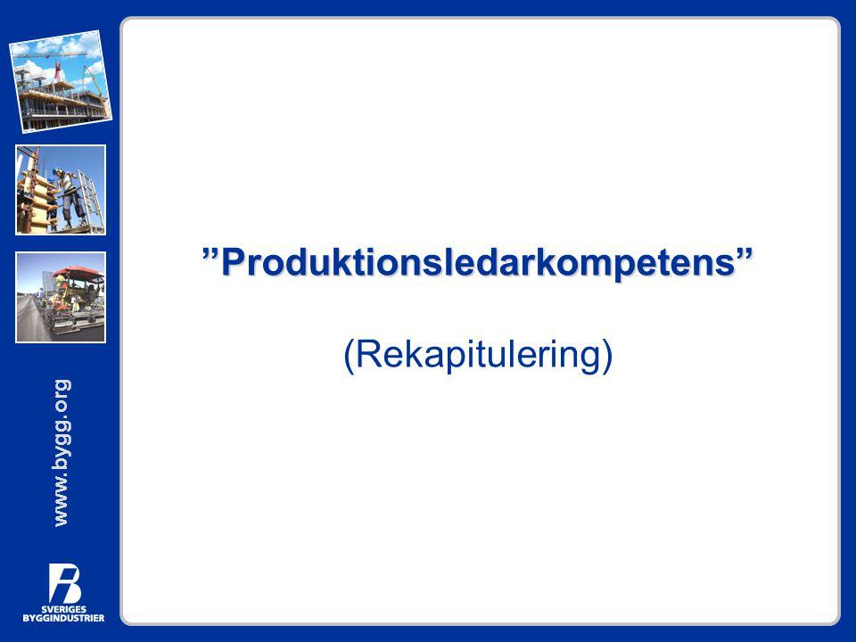 Produktionsledarkompetens (Rekapitulering)