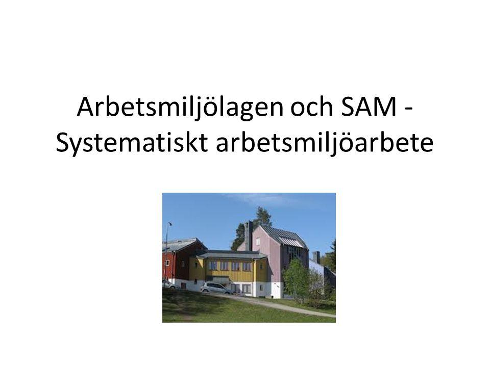 Arbetsmiljölagen och SAM -Systematiskt arbetsmiljöarbete