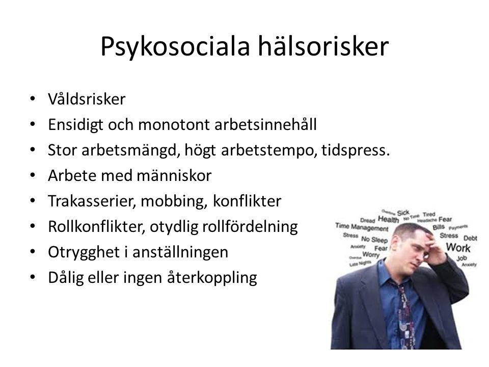 Psykosociala hälsorisker