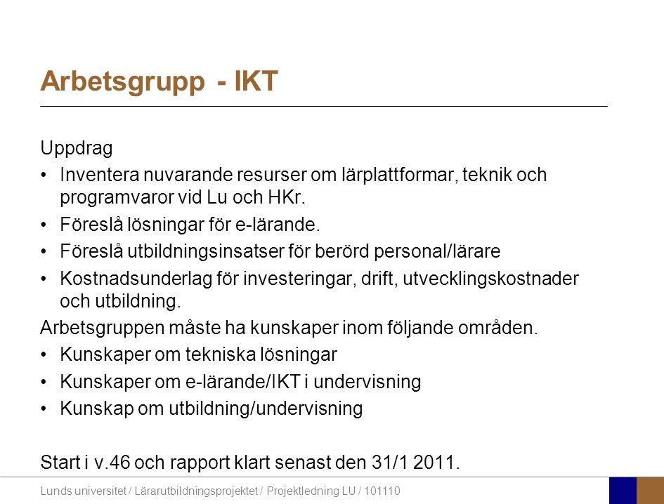 Arbetsgrupp - IKT Uppdrag