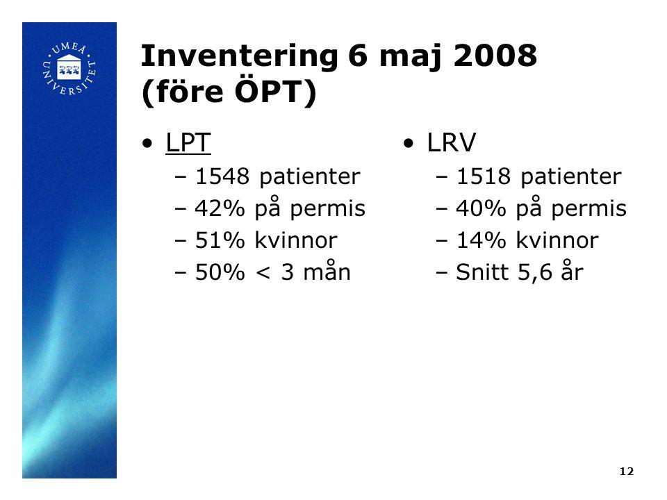 Inventering 6 maj 2008 (före ÖPT)