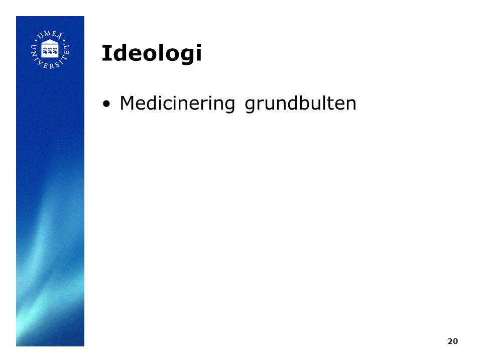 Ideologi Medicinering grundbulten