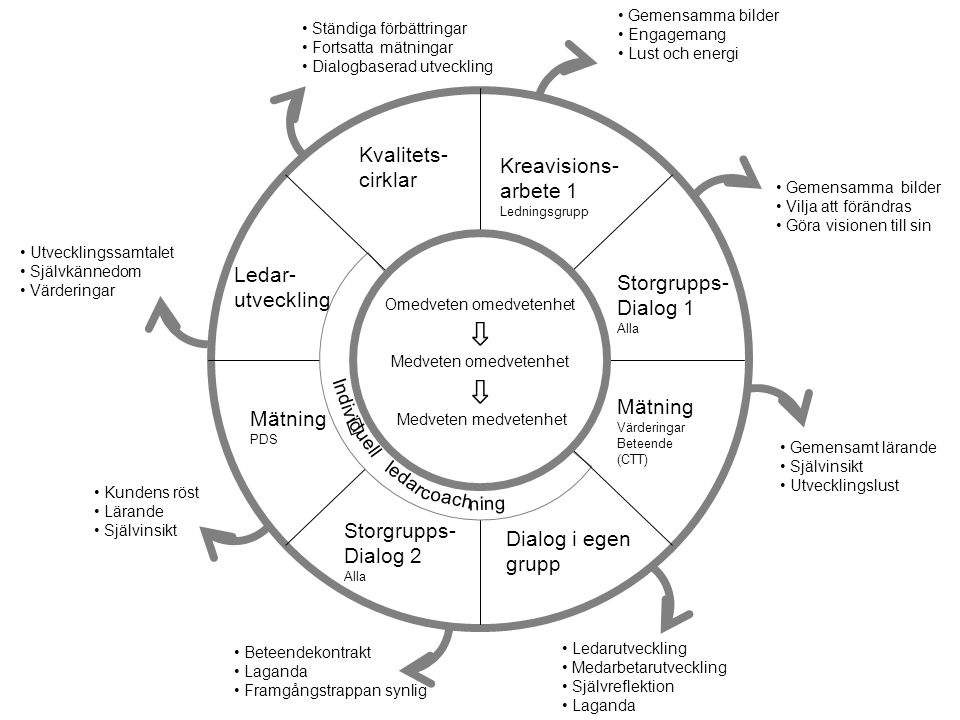 ⇩ Kvalitets- cirklar Kreavisions- arbete 1 Ledar- Storgrupps-