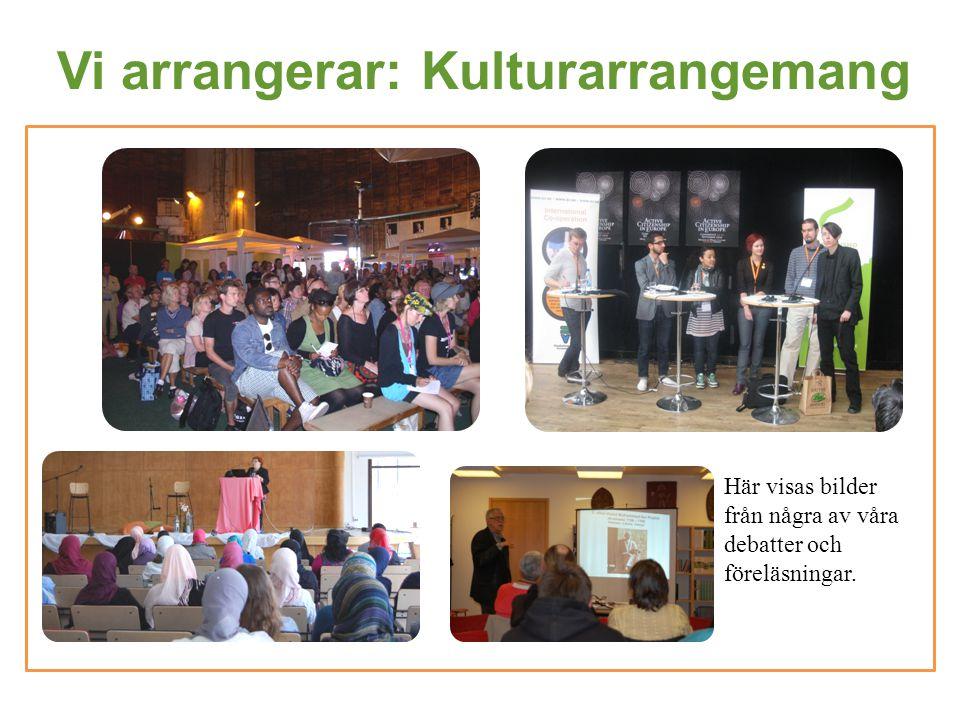 Vi arrangerar: Kulturarrangemang