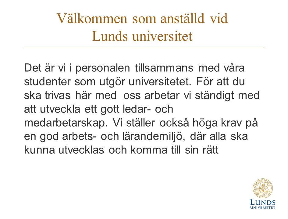 Välkommen som anställd vid Lunds universitet