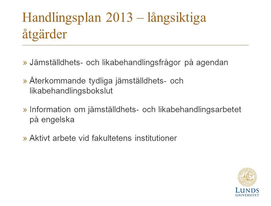 Handlingsplan 2013 – långsiktiga åtgärder