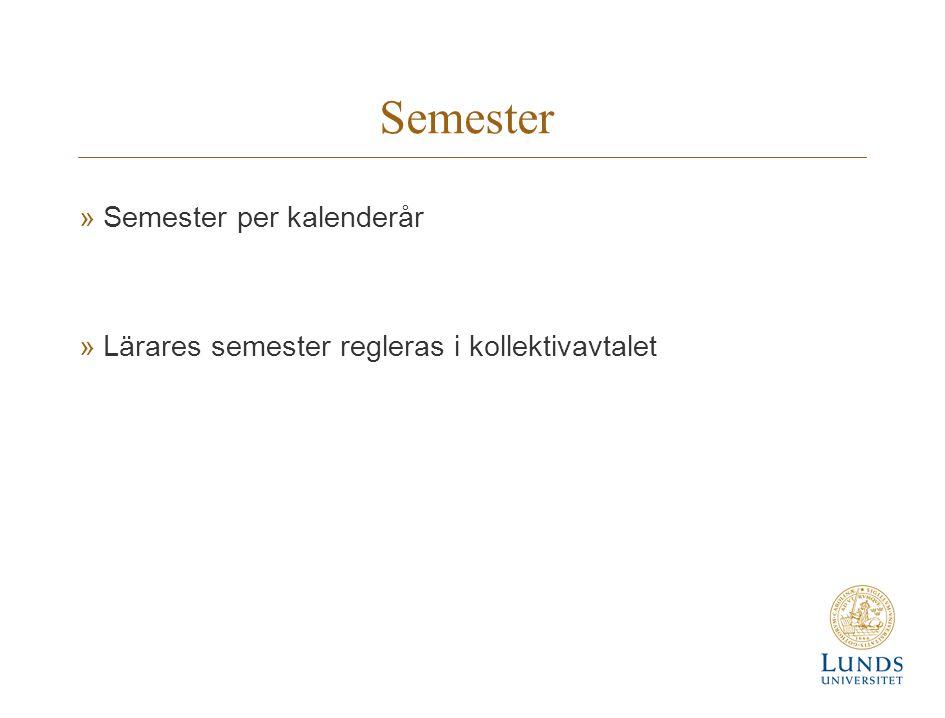 Semester Semester per kalenderår