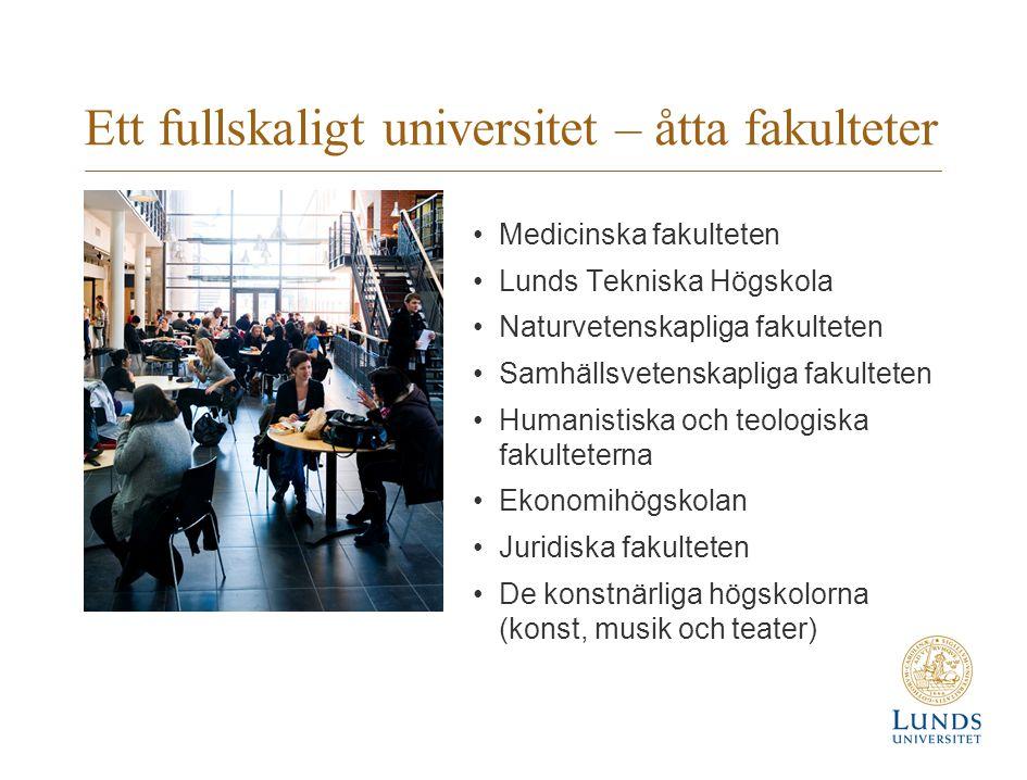 Ett fullskaligt universitet – åtta fakulteter