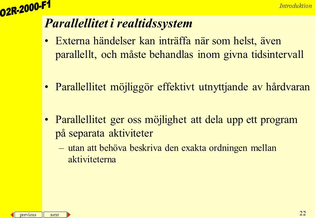 Parallellitet i realtidssystem