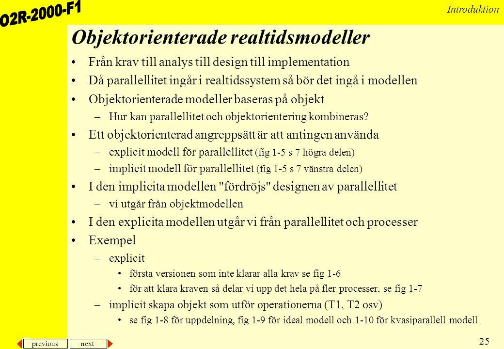 Objektorienterade realtidsmodeller