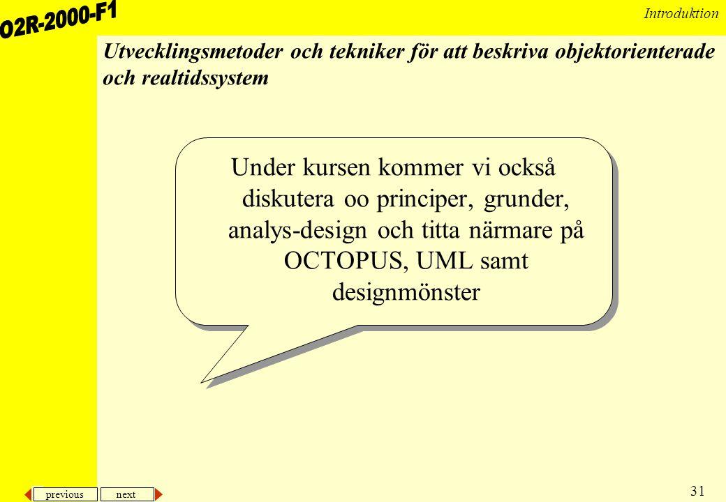 Utvecklingsmetoder och tekniker för att beskriva objektorienterade och realtidssystem