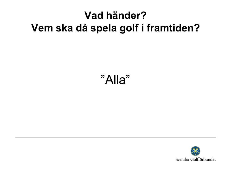 Vad händer Vem ska då spela golf i framtiden