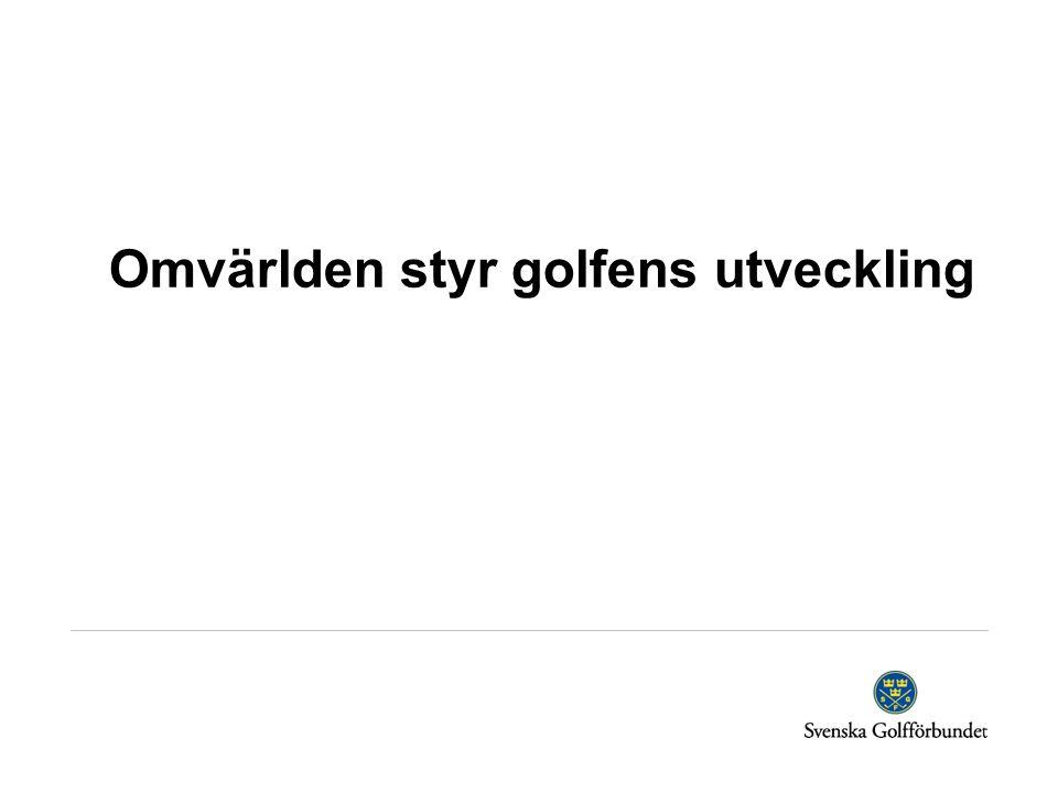 Omvärlden styr golfens utveckling