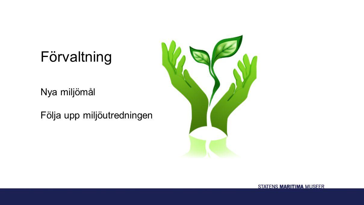 Förvaltning Nya miljömål Följa upp miljöutredningen