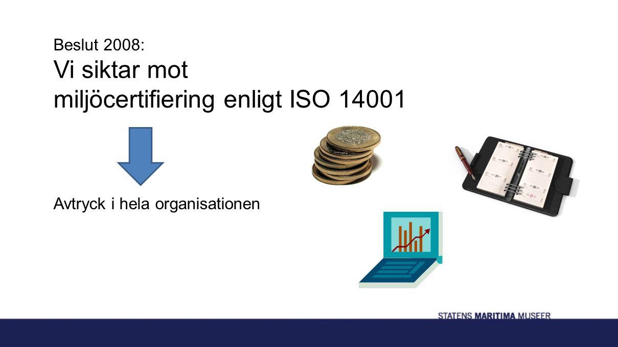 Beslut 2008: Vi siktar mot miljöcertifiering enligt ISO 14001