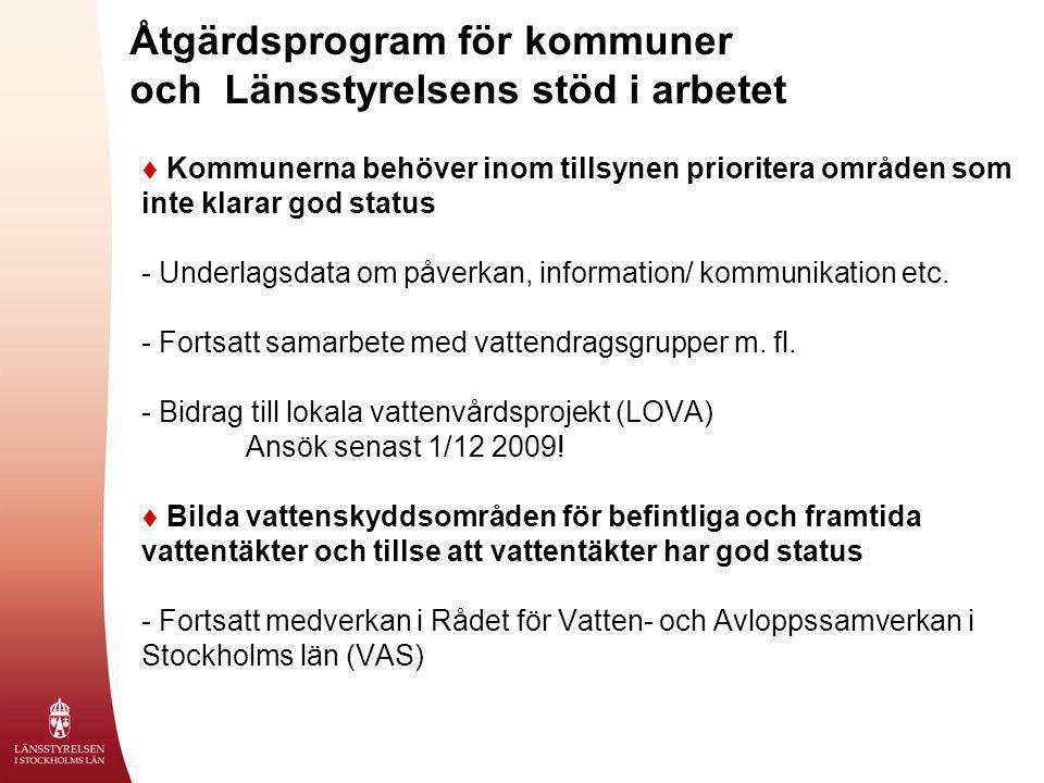 Åtgärdsprogram för kommuner och Länsstyrelsens stöd i arbetet