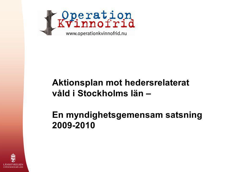 Aktionsplan mot hedersrelaterat våld i Stockholms län –