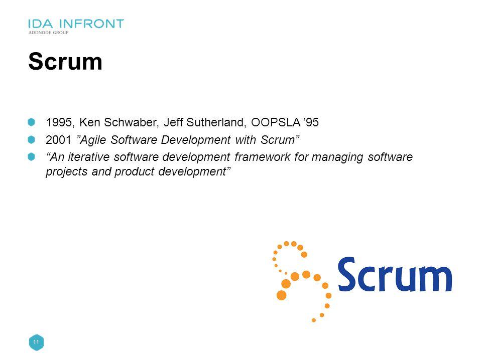 Scrum 1995, Ken Schwaber, Jeff Sutherland, OOPSLA '95