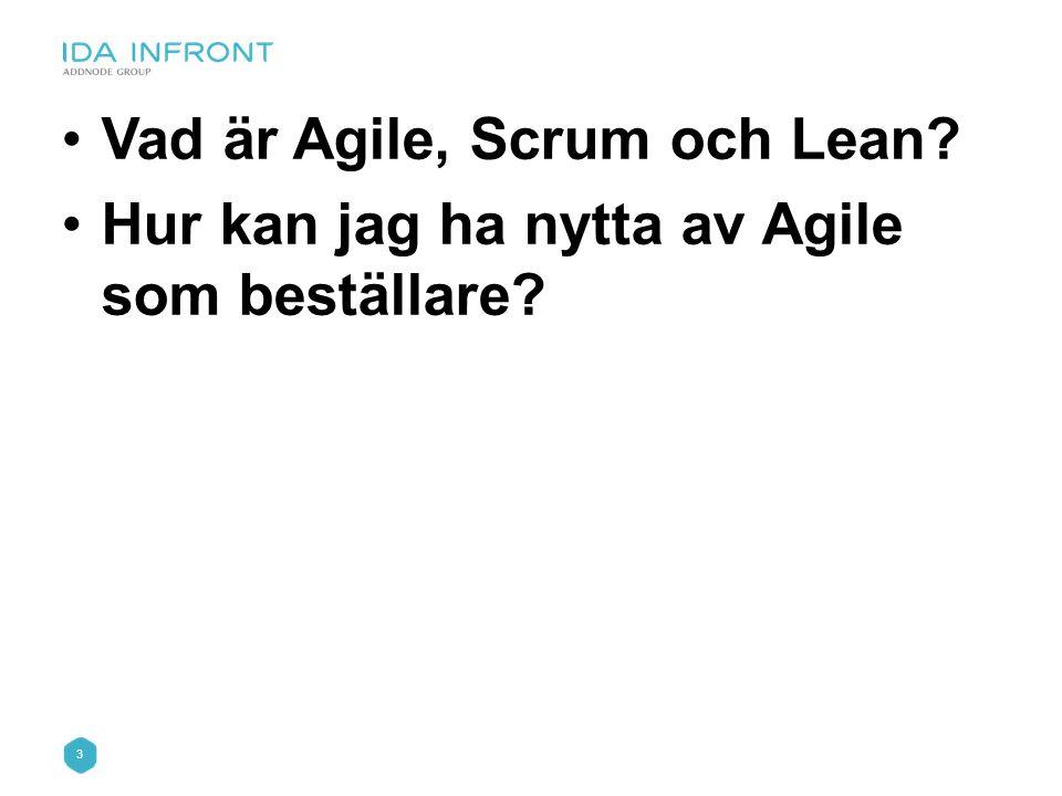 Vad är Agile, Scrum och Lean