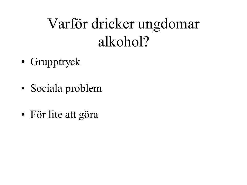 Varför dricker ungdomar alkohol