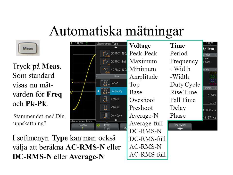 Automatiska mätningar