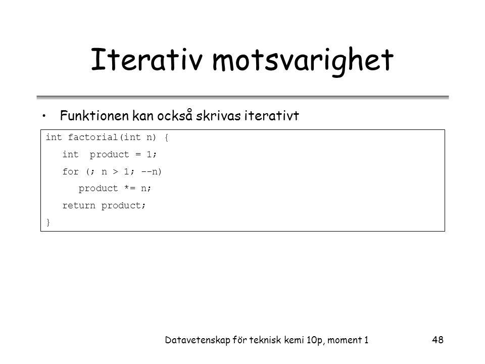Iterativ motsvarighet