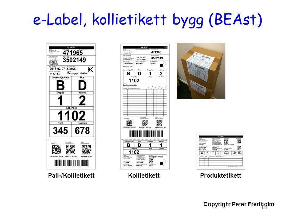 e-Label, kollietikett bygg (BEAst)