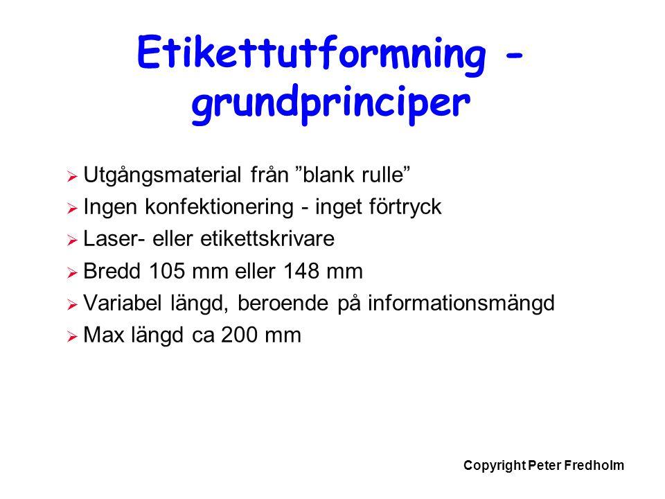 Etikettutformning - grundprinciper