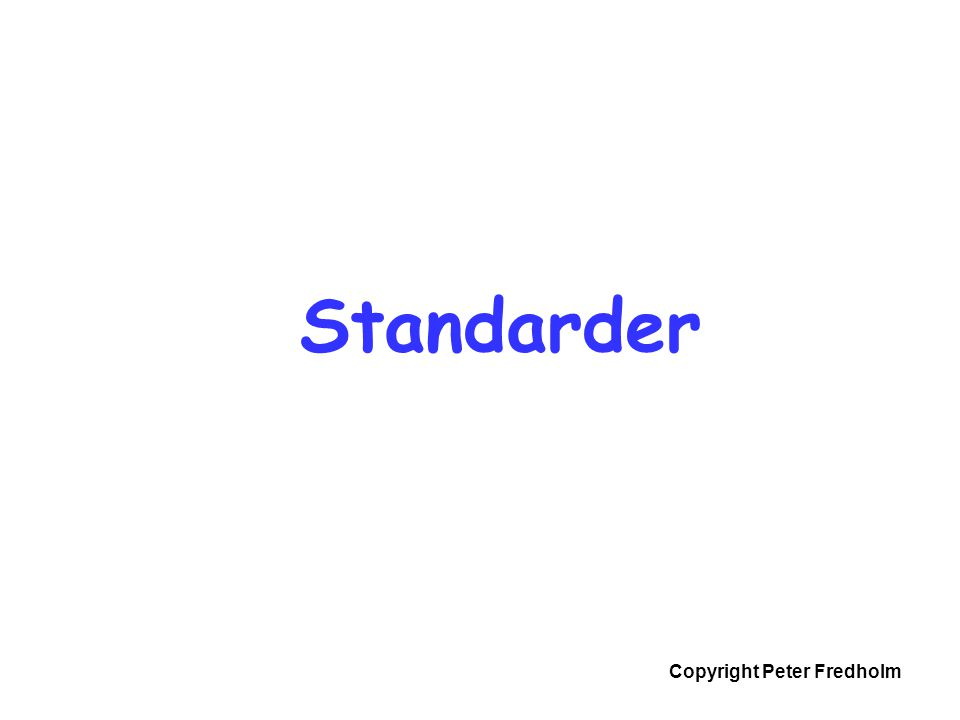 Standarder