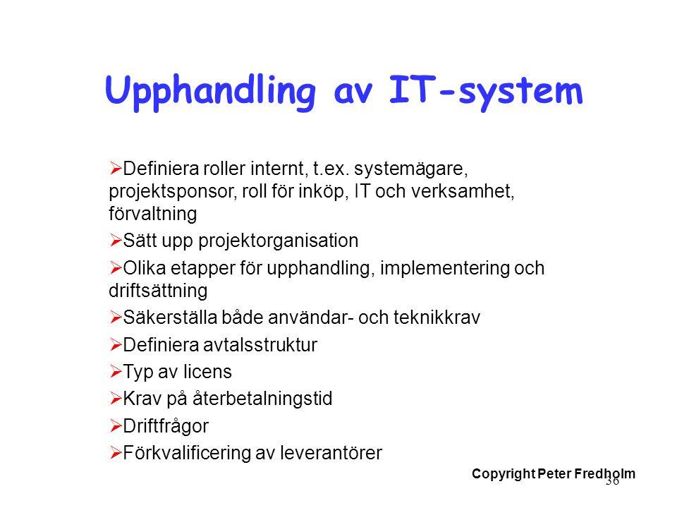 Upphandling av IT-system