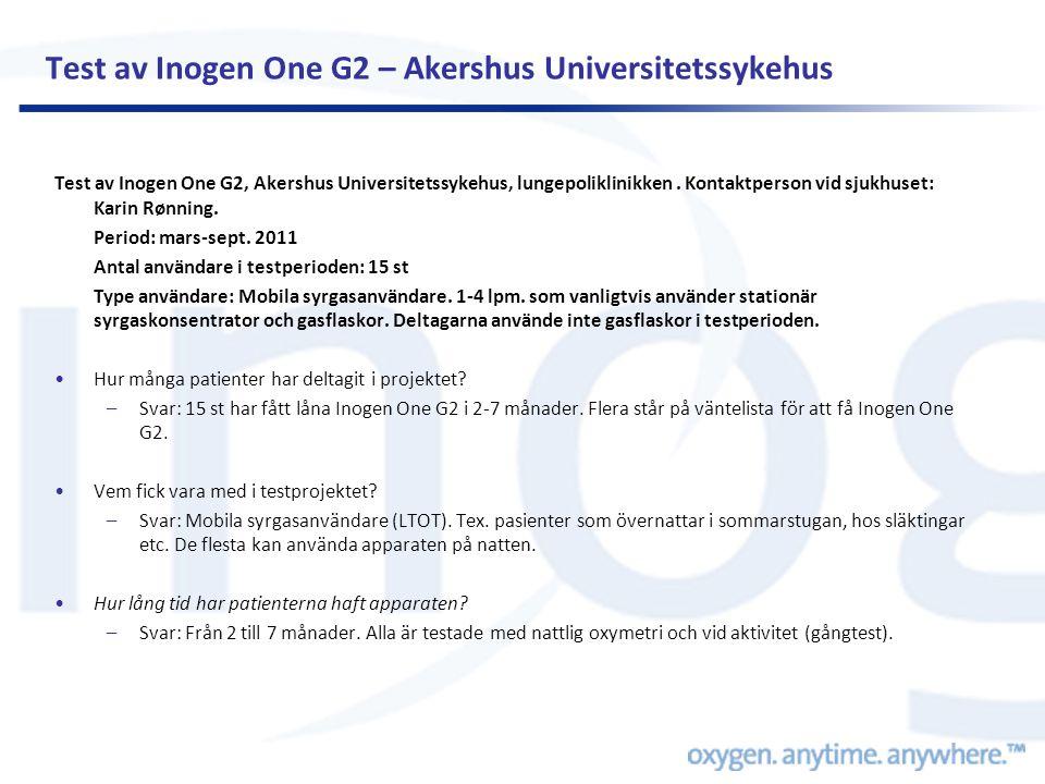 Test av Inogen One G2 – Akershus Universitetssykehus
