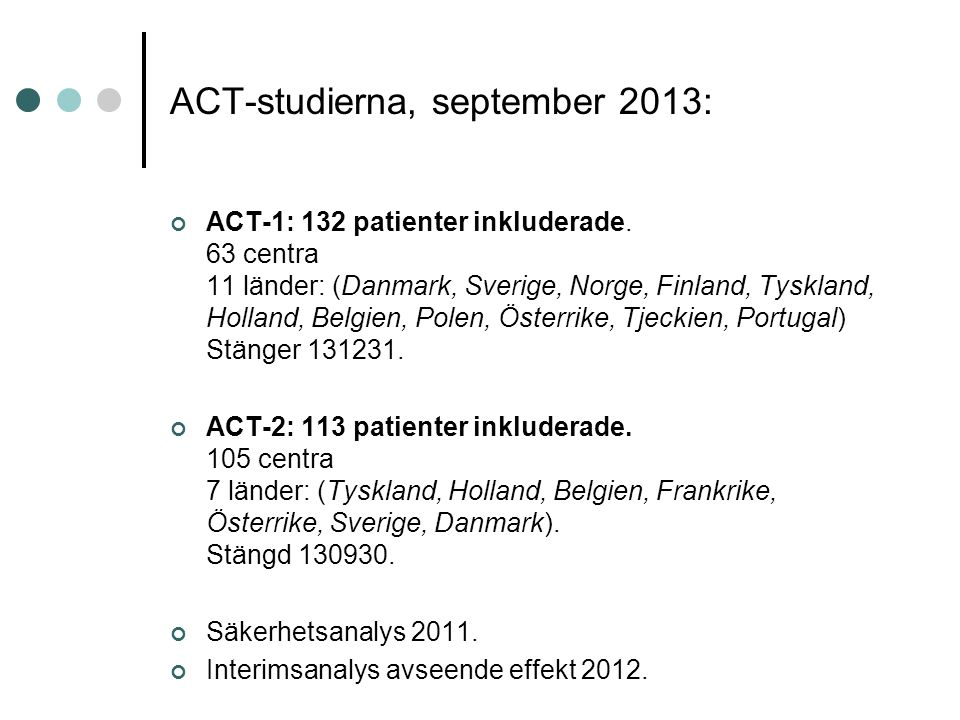 ACT-studierna, september 2013: