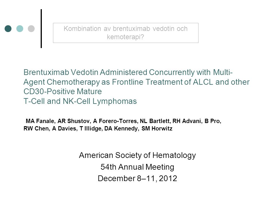 American Society of Hematology 54th Annual Meeting December 8–11, 2012