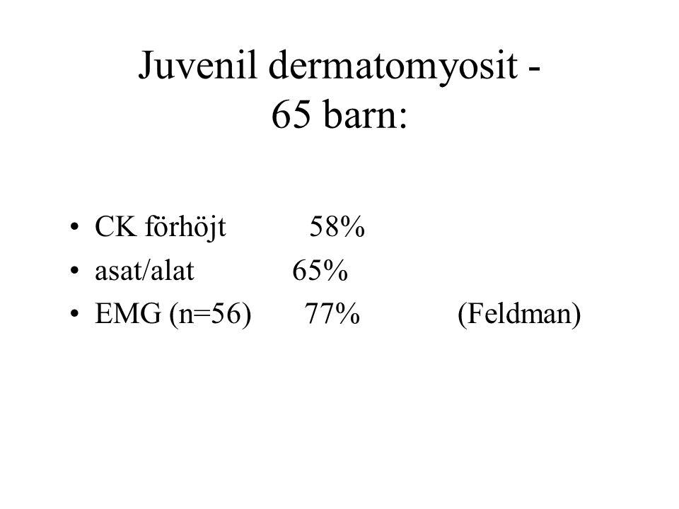 Juvenil dermatomyosit - 65 barn: