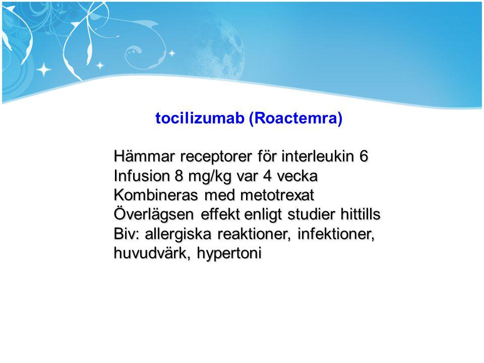 tocilizumab (Roactemra)