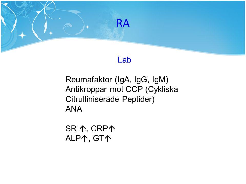RA Lab Reumafaktor (IgA, IgG, IgM)