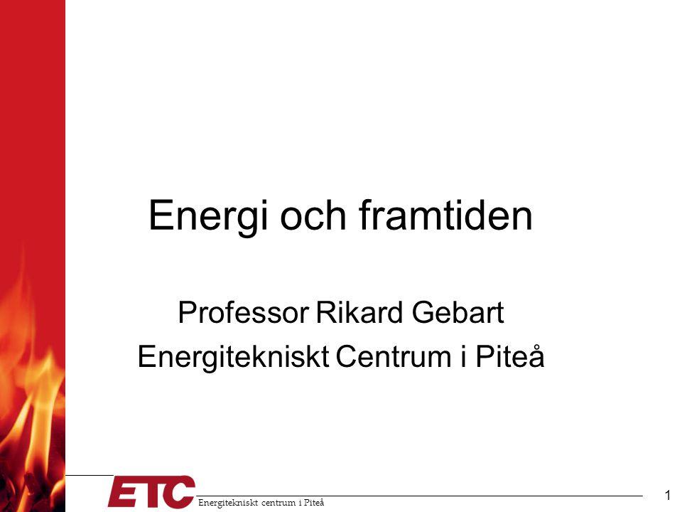 Professor Rikard Gebart Energitekniskt Centrum i Piteå