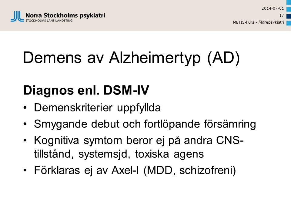 Demens av Alzheimertyp (AD)