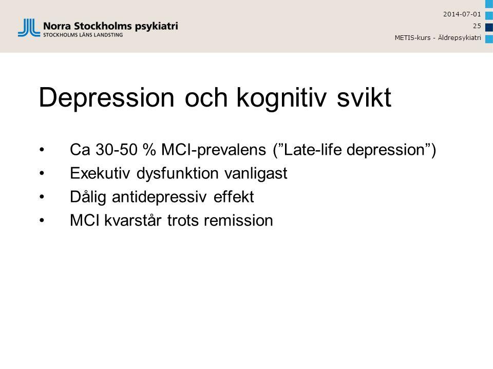 Depression och kognitiv svikt