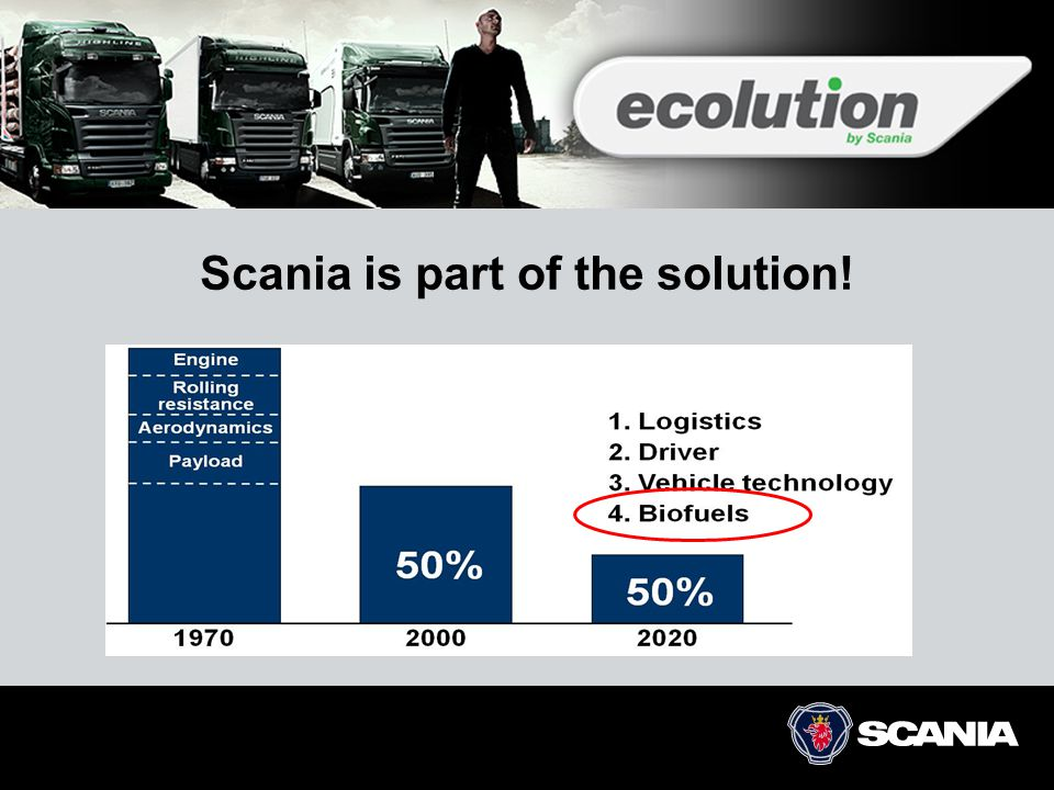 Scania is part of the solution!